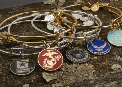 Alex & Ani Military Charm Bracelets
