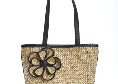 Black Flower Bueno Handbag