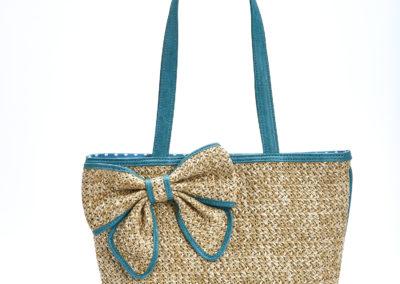 Teal Bow Bueno Handbag